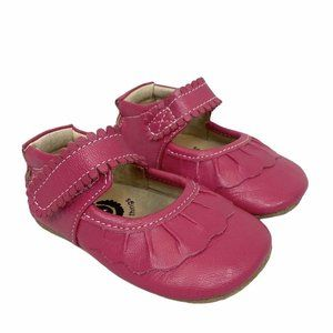 Livie & Luca Pink Leather Mary Jane Crib Shoes